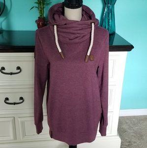 💖 Naketano Funnel Neck Hooded Sweatshirt Small